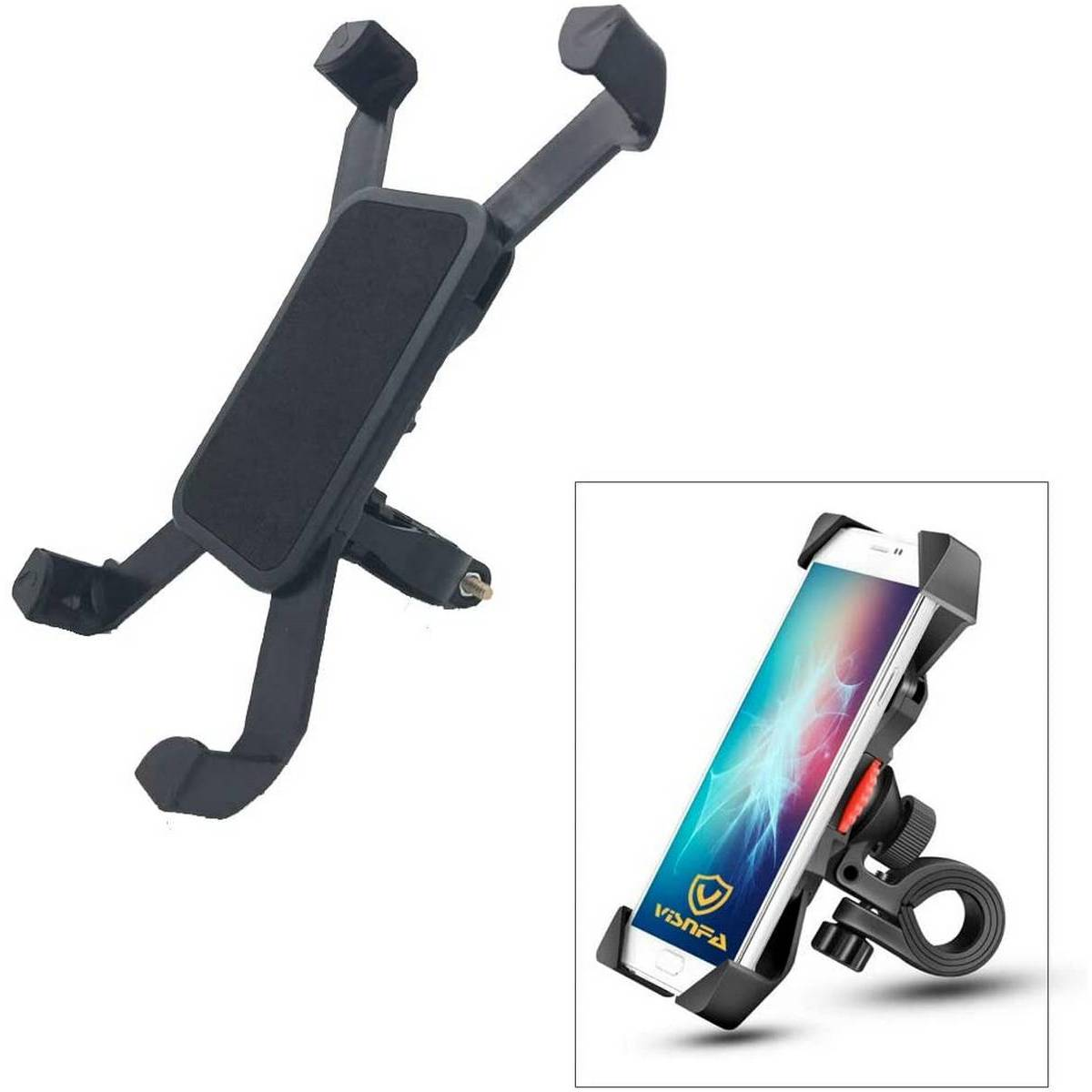 Imported Universal Motorcycle Bike & Bicycles Mobile Phone Holder Stand for Handlebar Driving / Navigation for All Smart phones