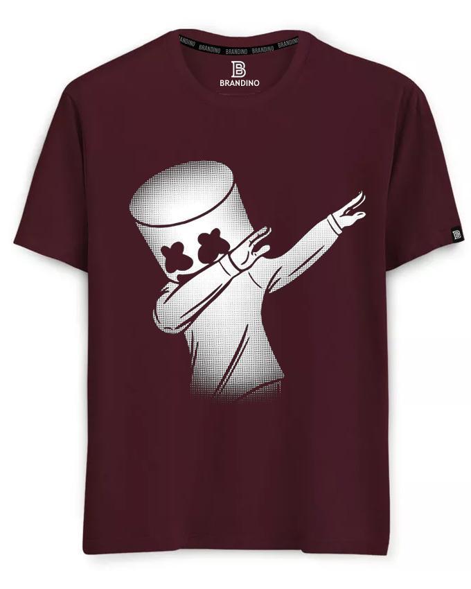Marshmello Round Neck Half Sleeves Printed T Shirt for Men- Design 2