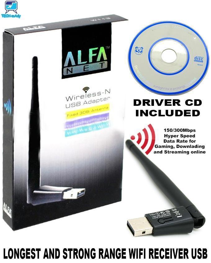 Alfa Wifi Antenna W113-  300 MBPS Net Wireless-N USB Adapter Fixed 3DBi Antenna Soft AP Wifi Utility For Windows For Pc - W113
