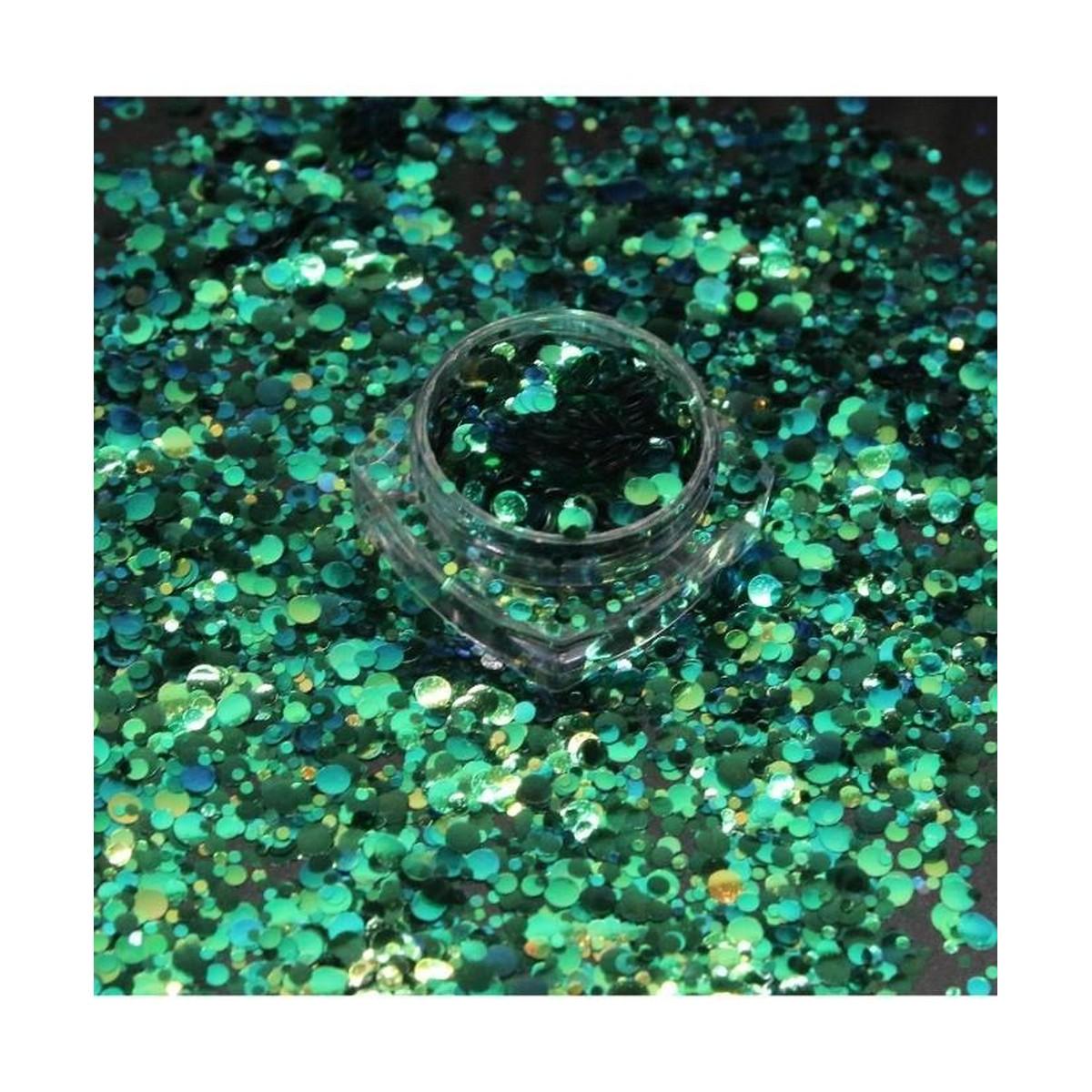 3g Glitter Pot For Nails Green