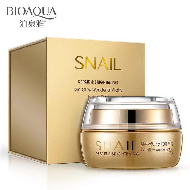 482eeb6397 BIOAQUA Snail Repair & Brightening Skin Glow Day Cream Face Skin Care - 50g
