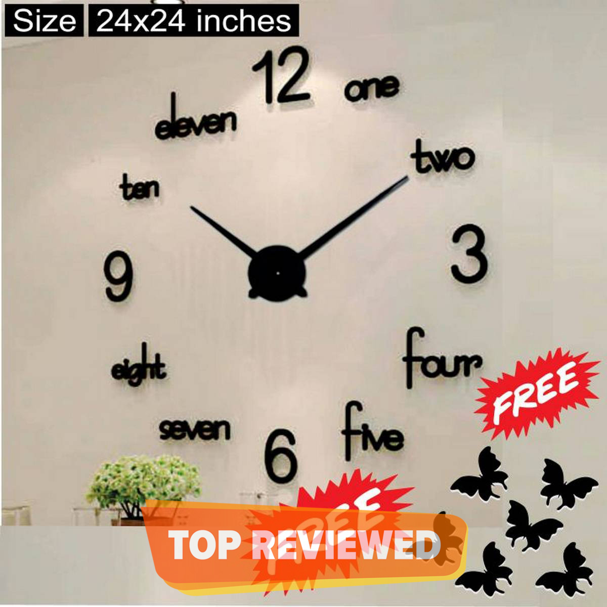 2021 Wall Clock New Beautiful 3D Acrylic wall clock, creative clock for home and offices, Home Decor