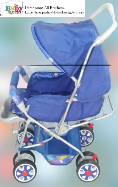 Baby Pram Stroller  For Newborn Baby Aluminum Pipe Made Soft & Breathable Seat With Premium