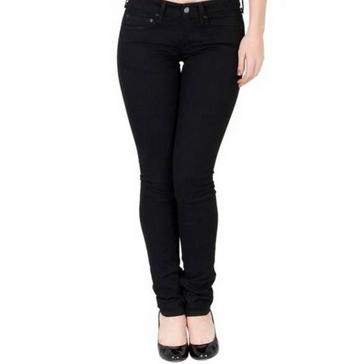 Cotton Jeans For Women - Black