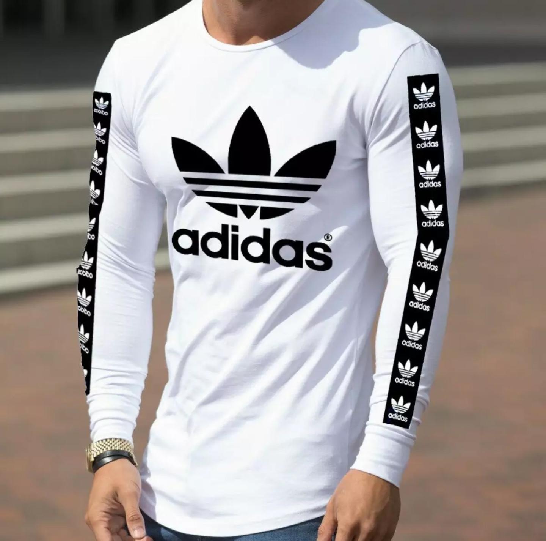 New Stylish white printed full sleeves T shirts