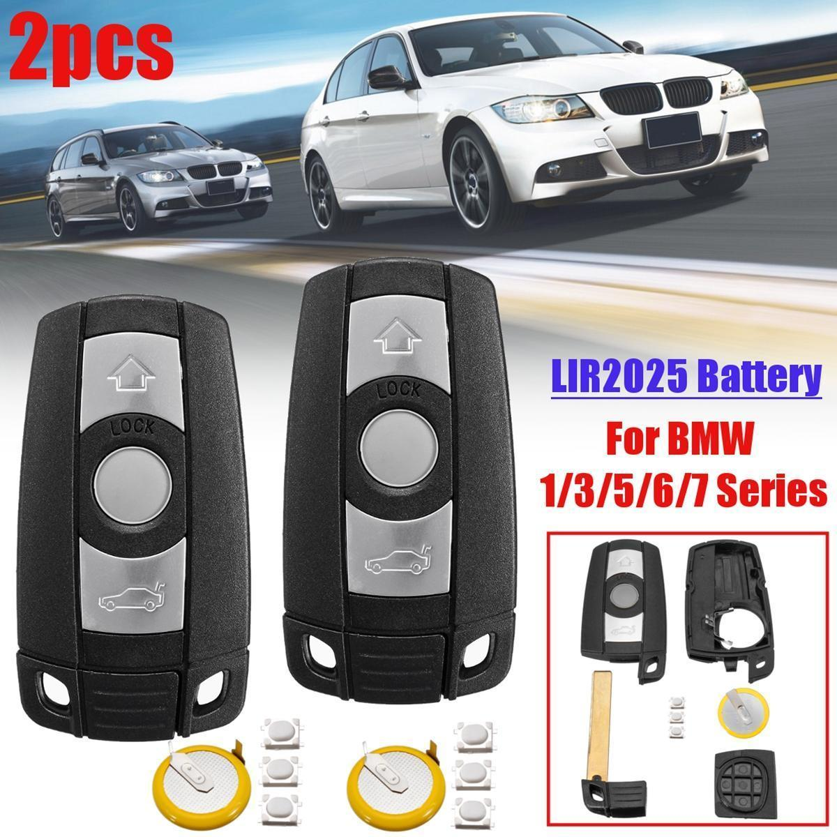 2pcs 3 Buttons Remote Key Fob With Lir2025 For Bmw 1 3 5 6 7 Series E90 E92