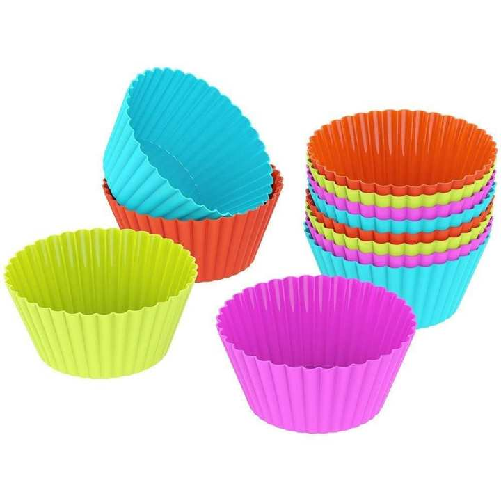 Silicone Cupcake Liners Molds Sets - Multicolored