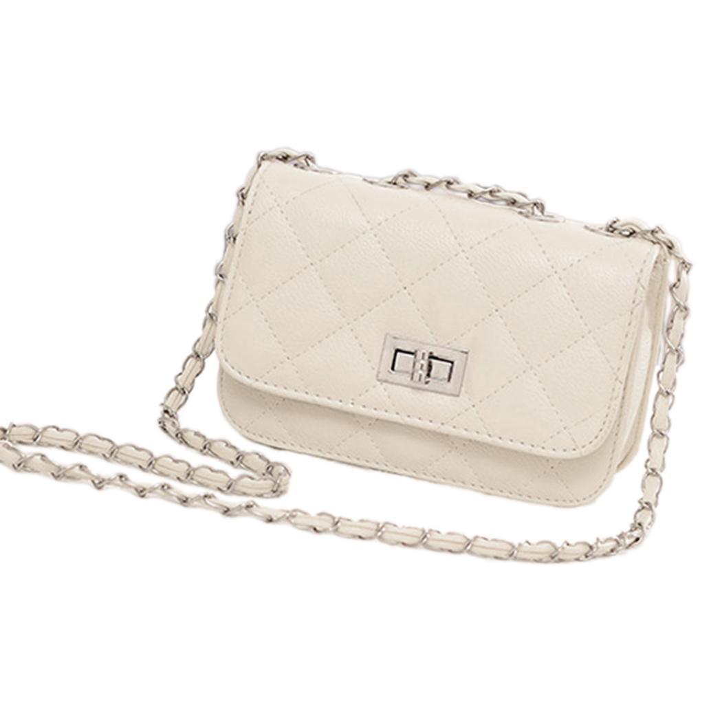 93b65c2f1d62 Fashion Women  s Leather Cute Mini Cross Body Chain Shoulder Bag ...