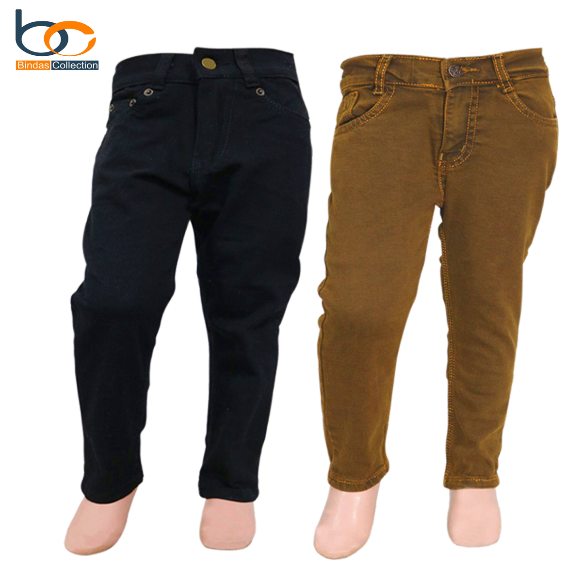 Bindas Collection Pack Of 2 Basic Denim Jeans Pants For Kids