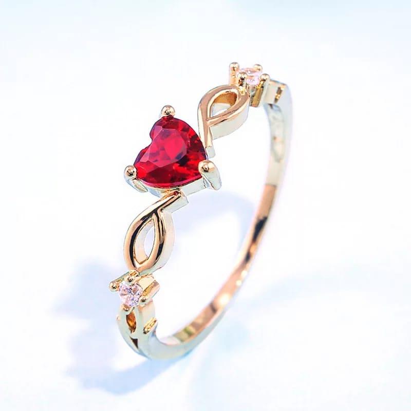 Heart Ring for Women Female Cute Romantic Finger Rings Rhinestone Girl Wedding Engagement Birthday Jewelry Gift