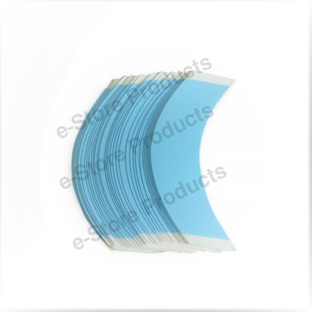 8 x Front Lace Original USA made Waterproof (3 inch) BLUE Strips for Hair Wig Unit - Very Strong Hold (5-7 Days) Double-sided Adhesive Tape