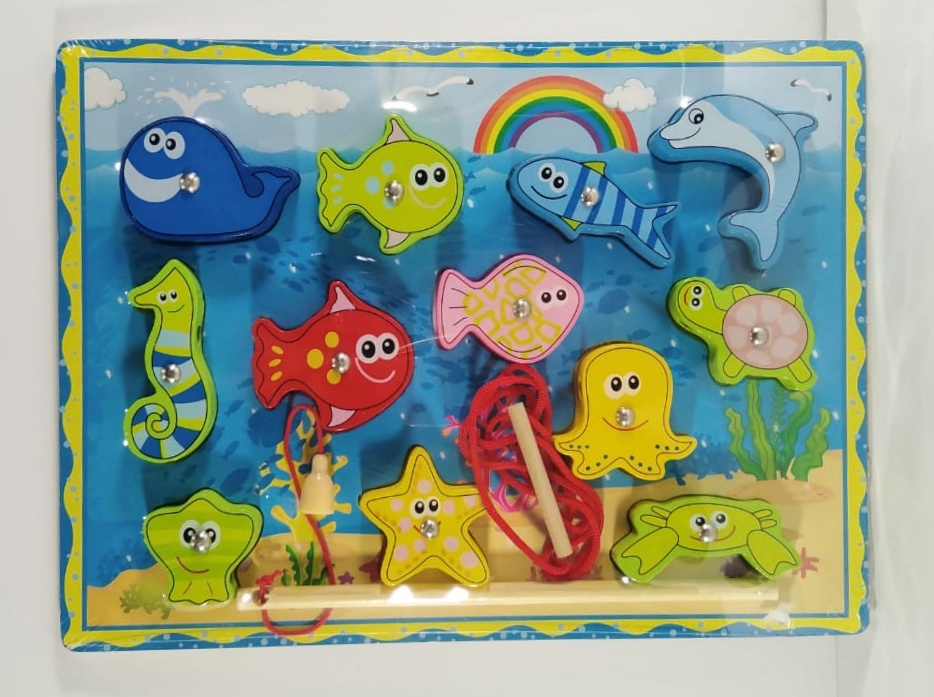 Fishing Game - Magnetic Fish Plate - Magnet Plate - Educational Toy
