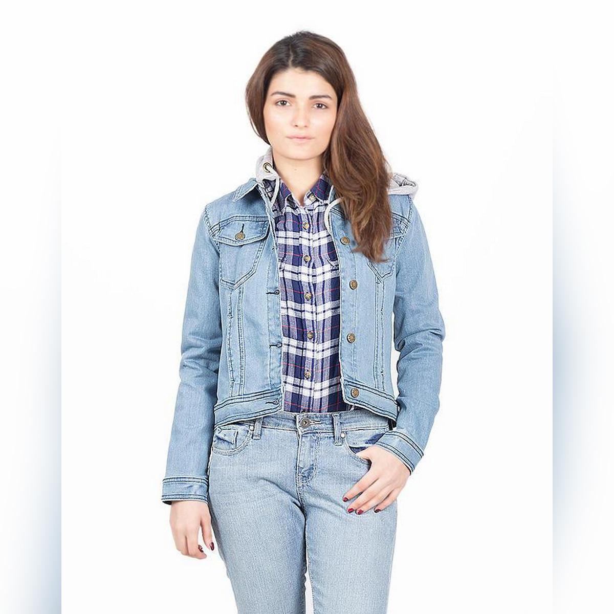 Light Blue Denim Jacket For Women