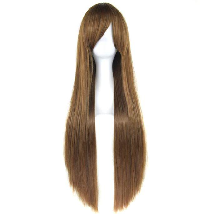 Long Straight Hairstyle Women Wigs Ash Brown Blonde Color High Quality Like natural Hair