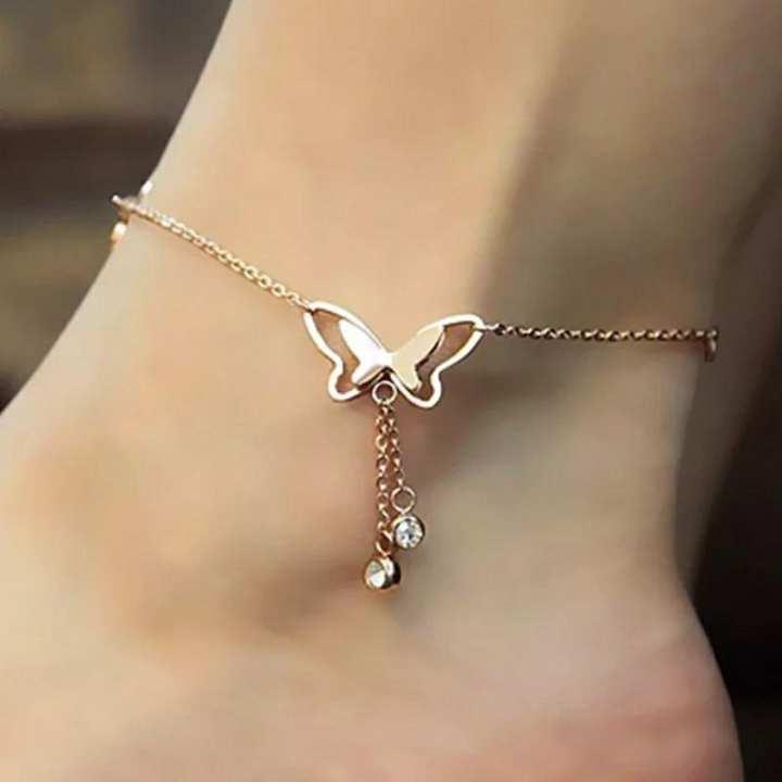 Butter fly pendant Anklet foot Jwellery Chain for Summer foot bracelet