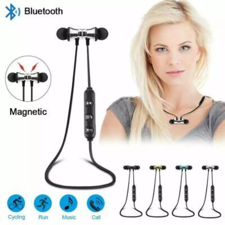 M5 Magnetic Wireless Bluetooth Earphones Handsfree Earphone - Bluetooth 4.1 Stereo Sport in Ear Music Earphone With Microphone