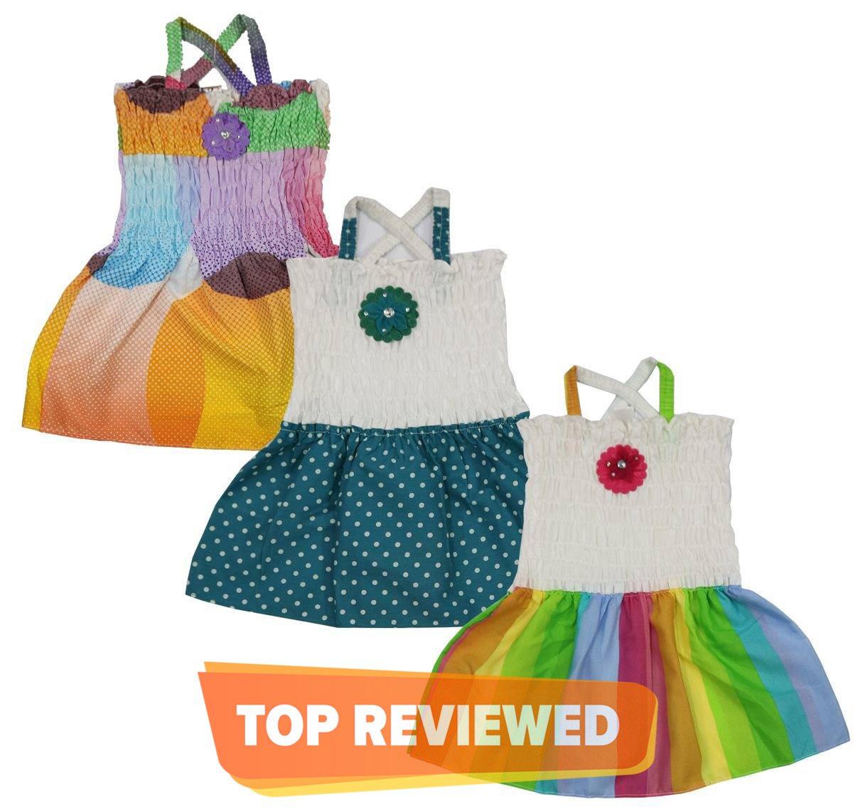Bindas Collection Pack of 3 Summer Prints Mix Cotton Frocks For Girls