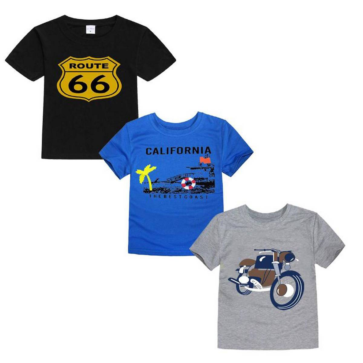 Pack 3 Smart Printed T-Shirt For Kids