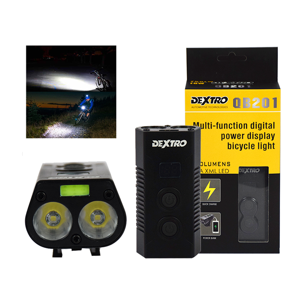 Dextro LED Light Bicycle Rechargeable Headlight 750 Lumens