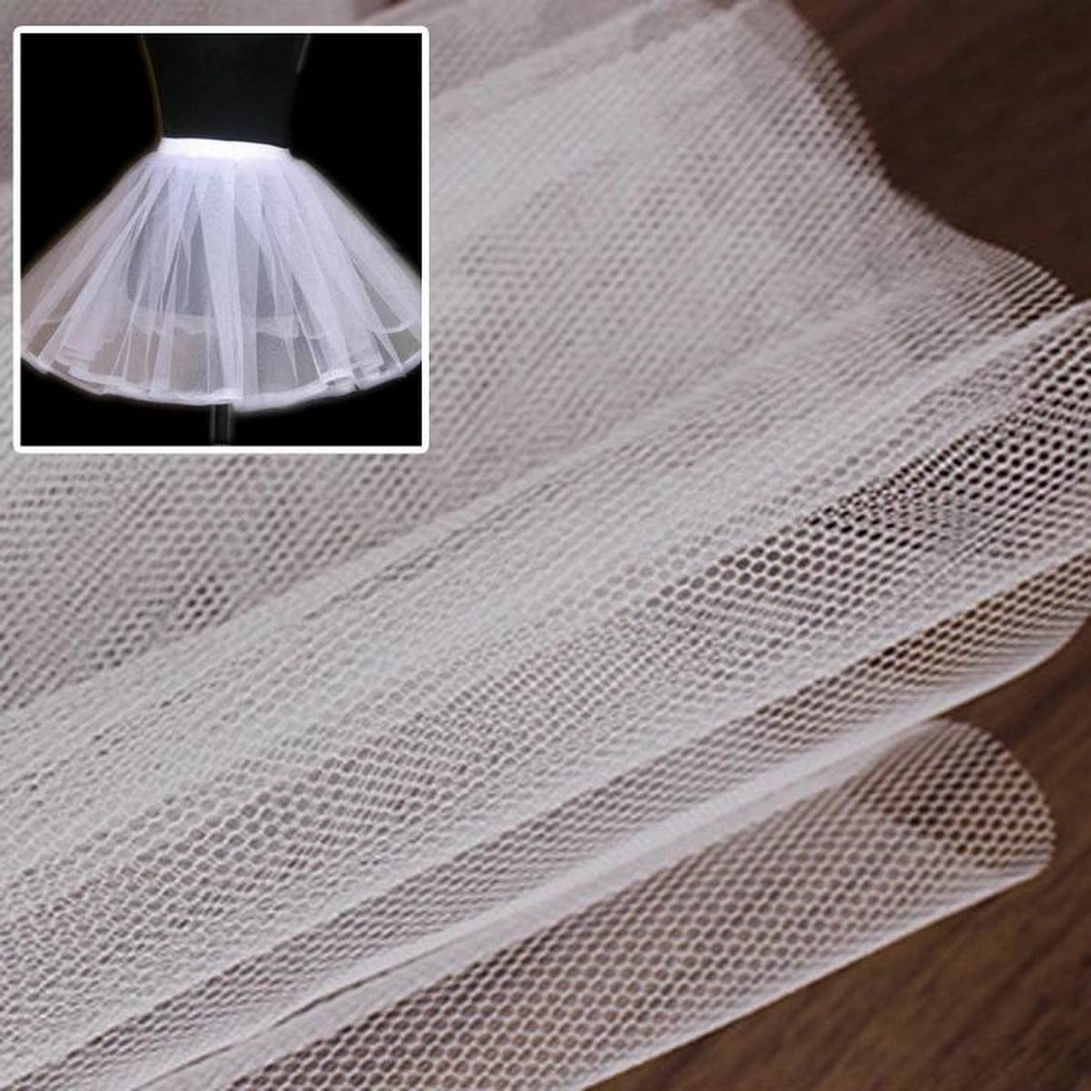 Un Stitched Hard net cancan can can fabric for under skirt for lehnga for women