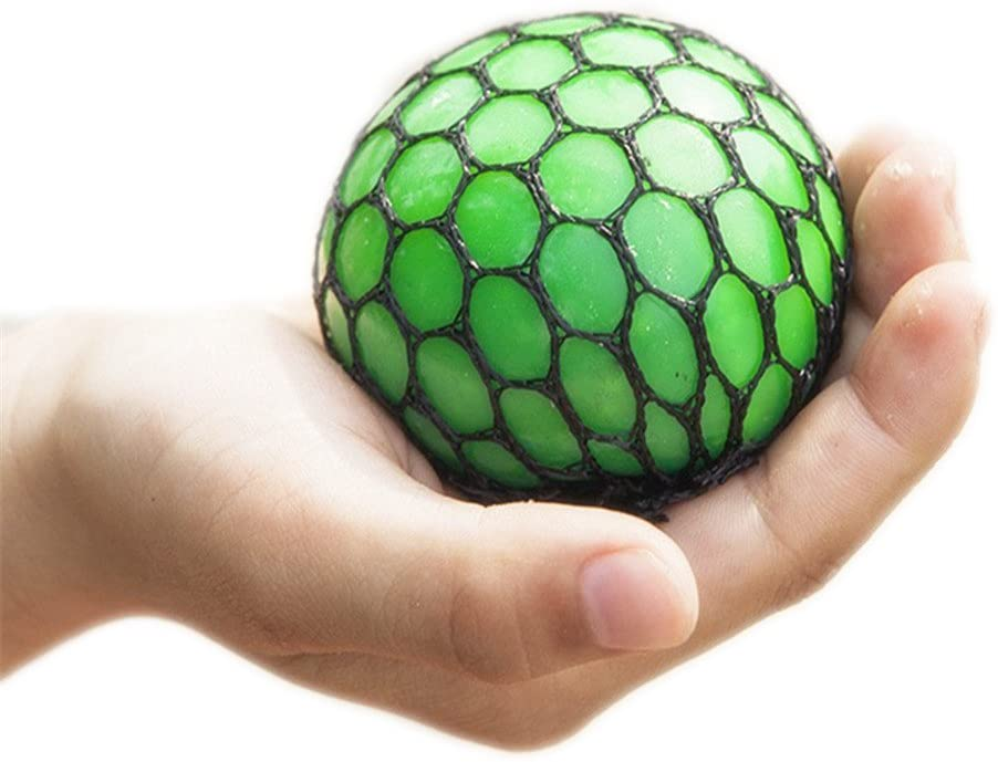 Fancy Squishy Mesh Ball Stress Relief Squeeze Grape Balls Hand Toy Sensory Fun Toy Gadgets Gifts For Adult And Child