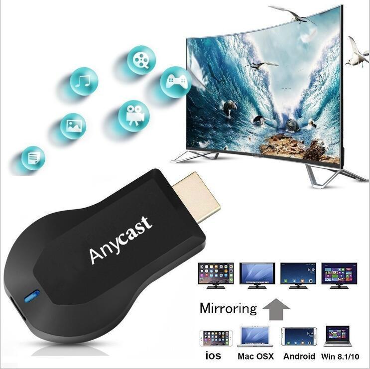AnyCast Wireless WiFi Dongle Receiver 1080P Display HDMI Chromecast Media  Video Streamer Switch-free TV Stick DLNA Airplay