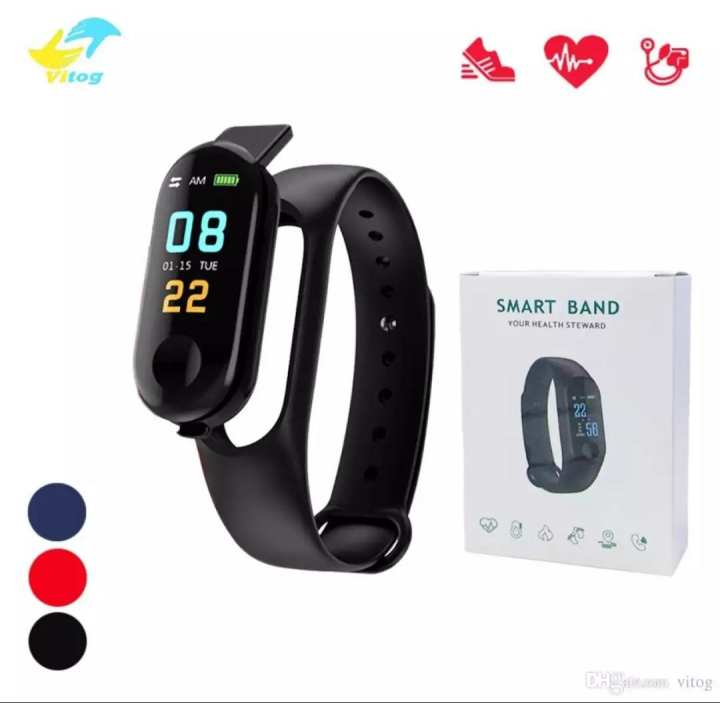 M3 Intelligence Yoho Smart Bluetooth Health Bracelet Band - BP, Heart Rate Monitor and Call / Message Reminder Waterproof Fitness Bracelet Band - 0.96 inch Screen Bluetooth 4.0 Call / Message Reminder Heart Rate Monitor for Android & iPhone - Yoho M3