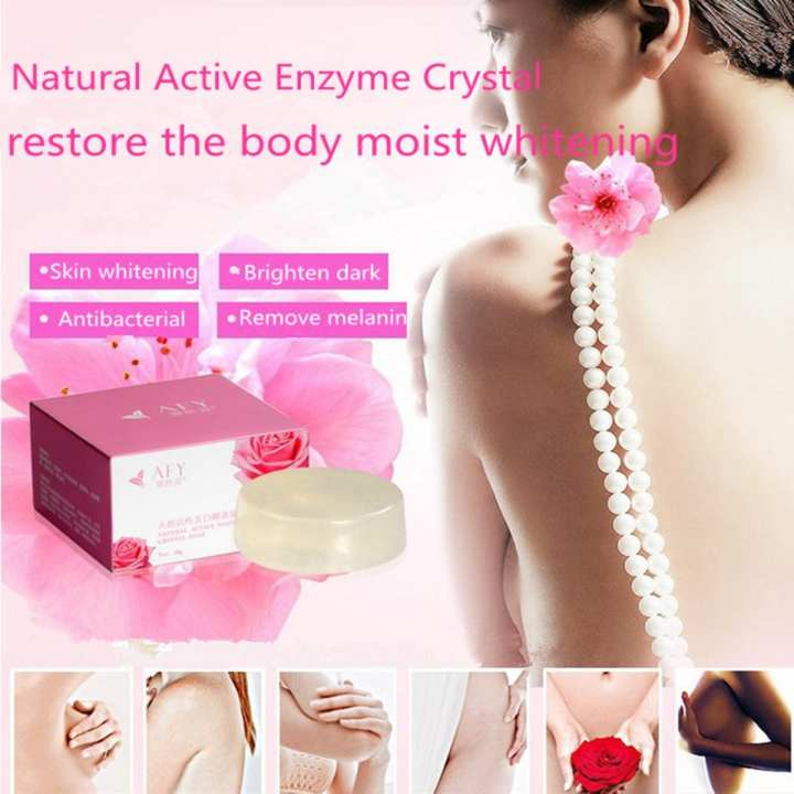 AFY Active Enzyme Crystal Soap Body Whitening Perineum Armpit Melanin Remover