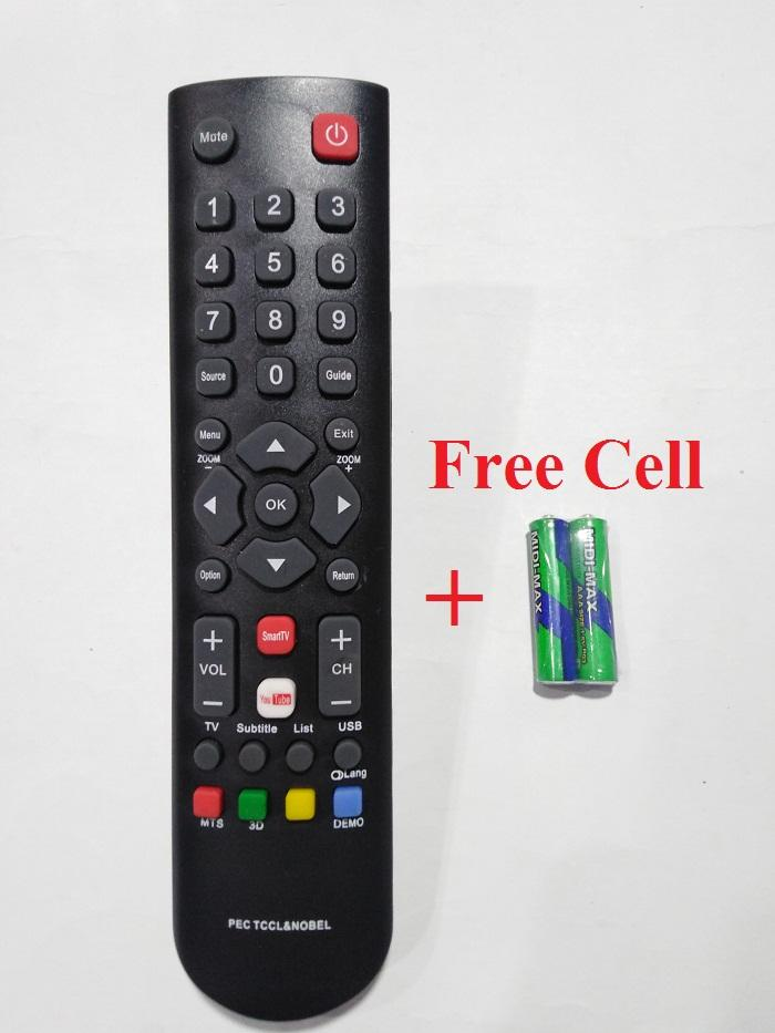 Universal TCL LED LCD TV Remote with YouTube & Smart TV Buttons Work all  LCD/LED TV+Free Cell