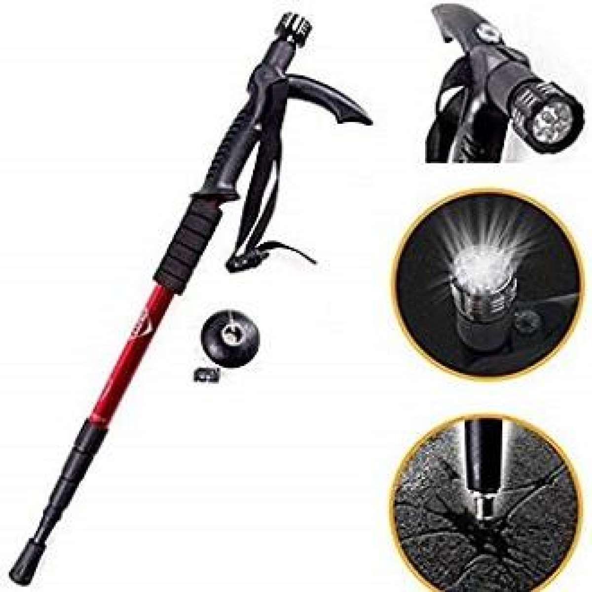 Adjustable AntiShock Hiking Stick Trekking Walking and Travel Stick - 1 Pc