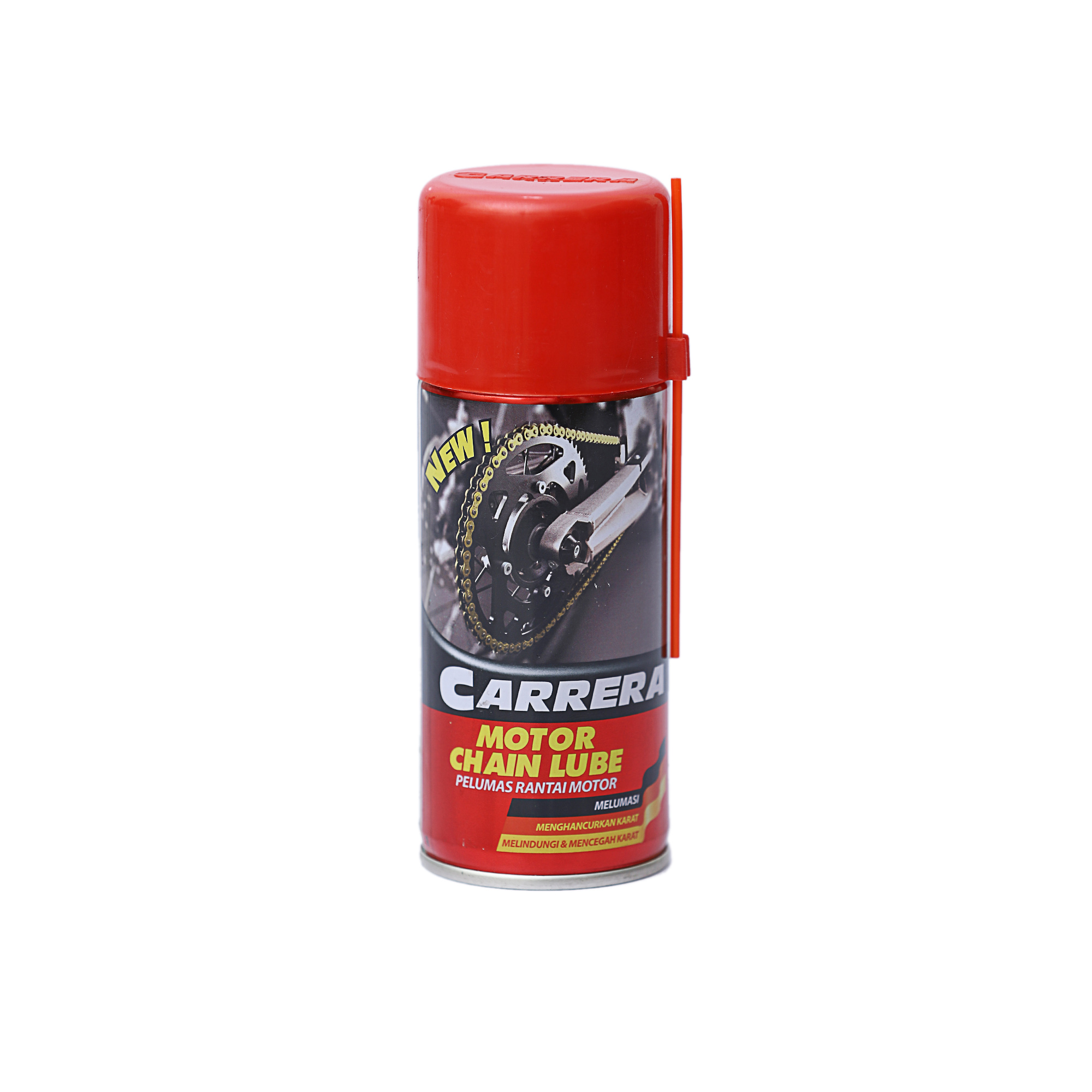 Carrera Motorcycle Chain Lube – Lubricate, Protect and Prevent Rust – Bike Lubrication Spray, 110 ml