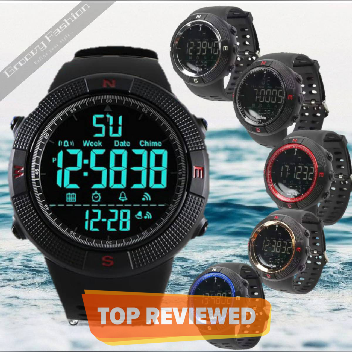 Taixun Multi-function Outdoor Sports Waterproof Men's Digital Electronic Watch- T312