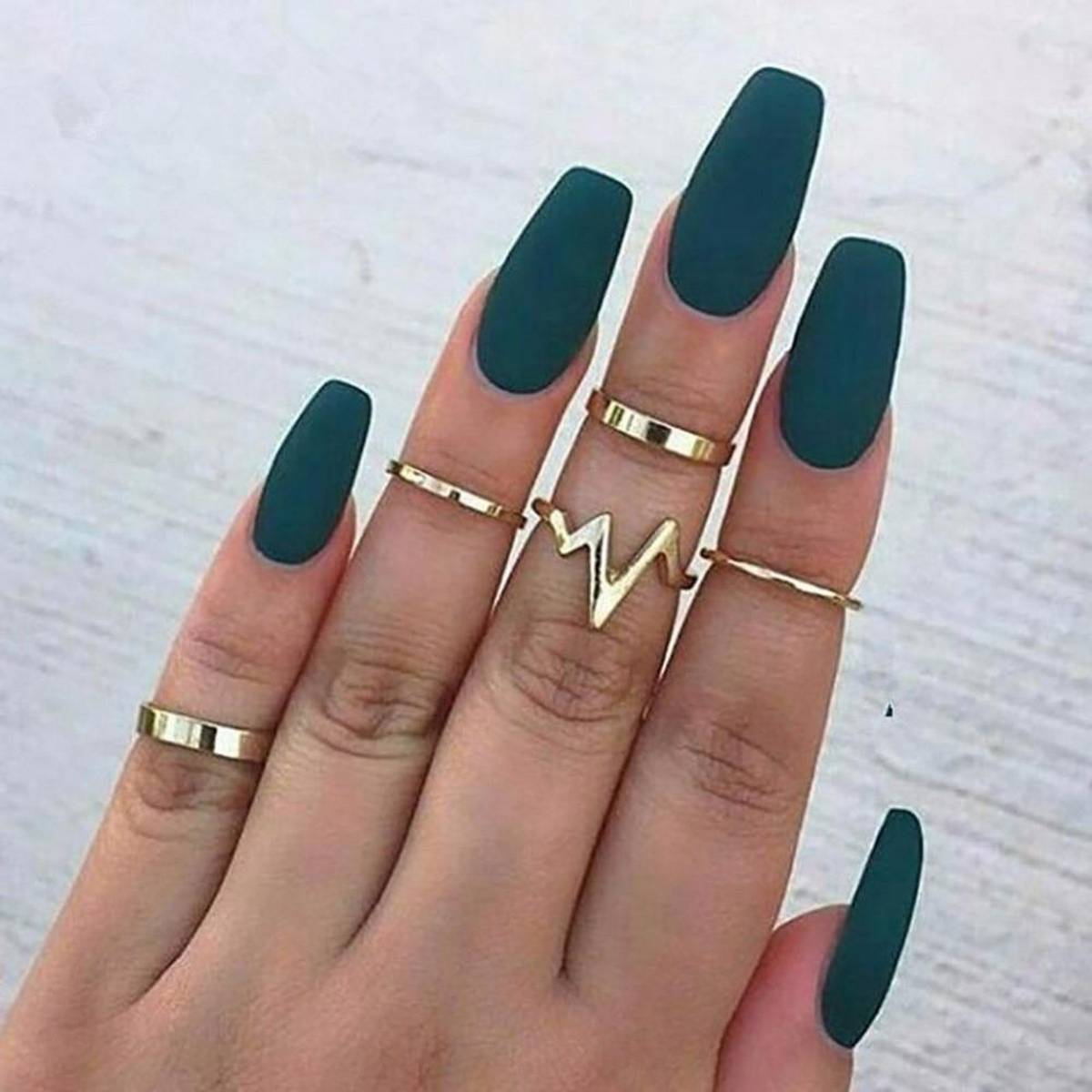 DISCOUNTED PRICE Pack of 5 Fashion Trendy Classy Golden Rings