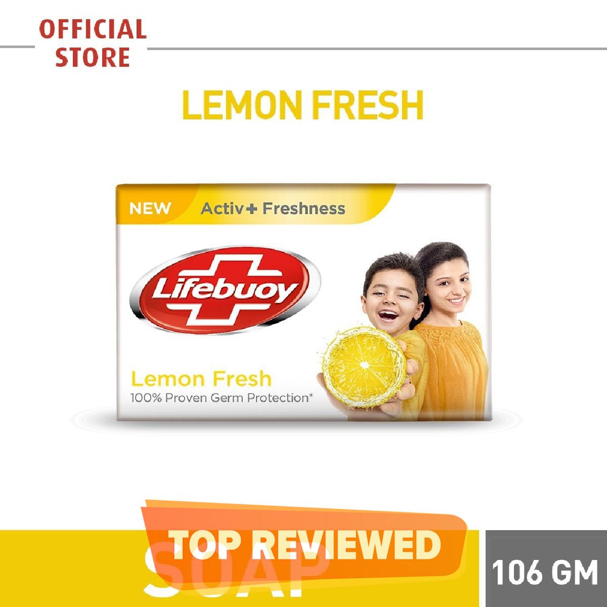 LIFEBUOY LEMON FRESH SOAP BAR 106G