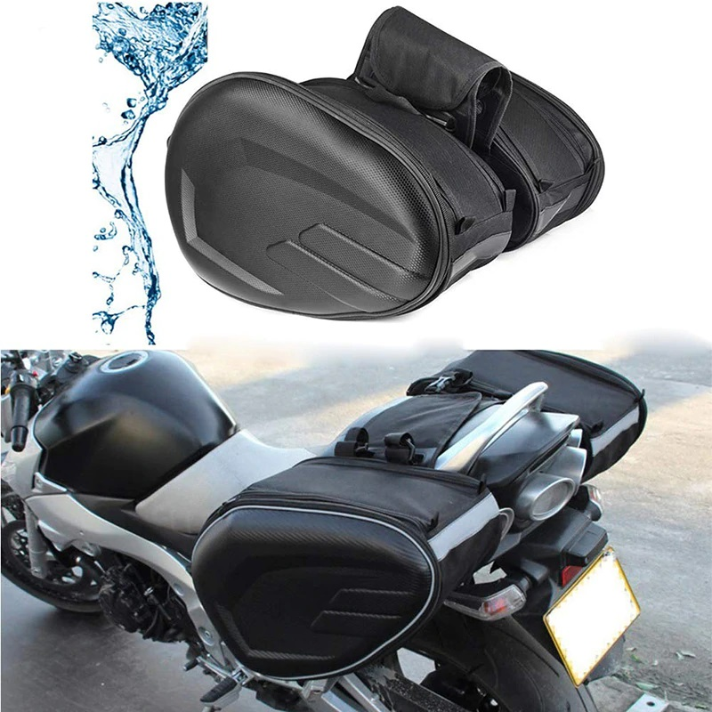 MOTORCYCLE WATERPROOF SADDLE BAGS SUITCASE SADDLEBAGS WITH RAIN COAT MOTORCYCLE ACCESSORIES FOR TOURING