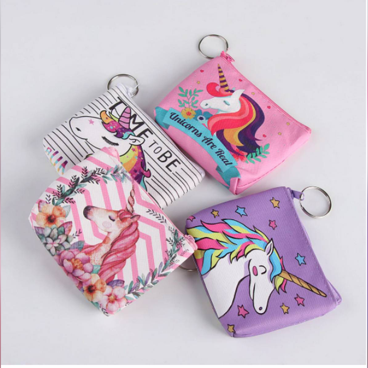 random color cute cartoon leather kids coin purses holder girls change wallets money storage bag women child zipper pouch