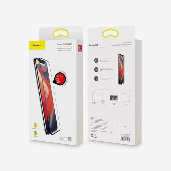 Baseus 0.23mm curved-screen tempered glass screen protector with crack-resistant edges For iPhone XR black-baseus-0-23mm-curved-screen-tempered-glass-screen-protector-with-crack-resistant-edges-for-iphone-xr-6-1inch-black