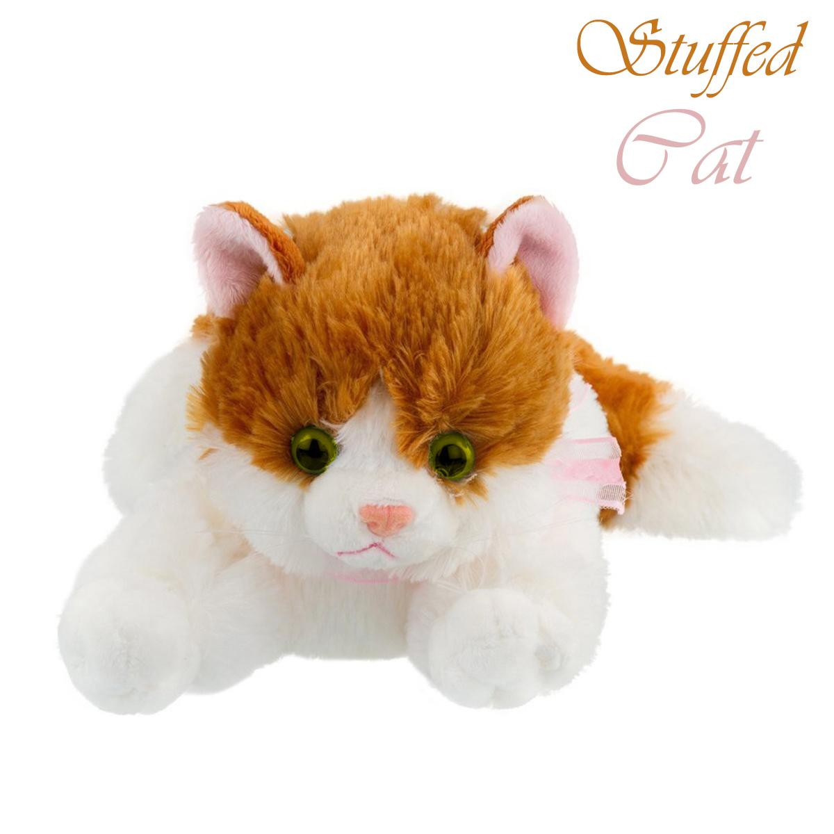 Cat Stuffed Animal Soft Cat Plush Toy Persian Cat Stuff Toy White Color 35 cm