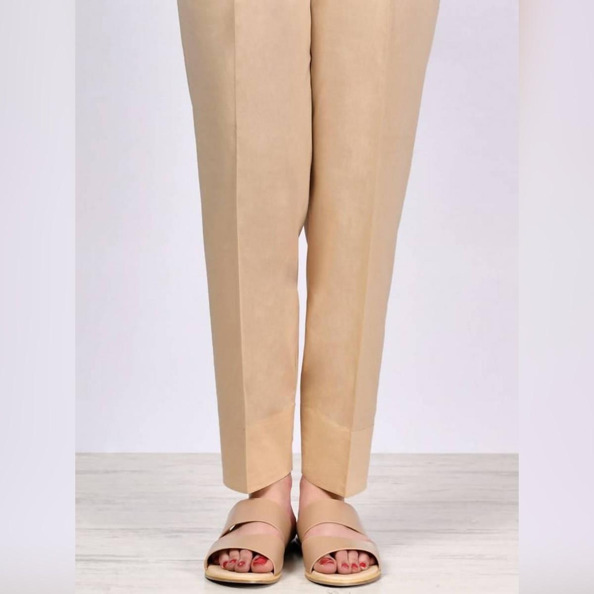 Skin Plain Straight Trouser,Pants,Capri For Girls/Ladies imported Fabric