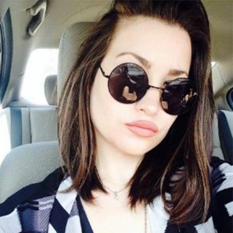 Round Black Metal SunGlasses For Girls