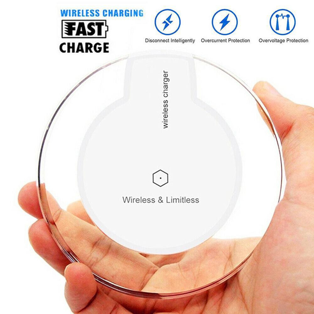 Universal Qi Charging Pad Mobile Phone Adapter Dock Station Wireless Charger