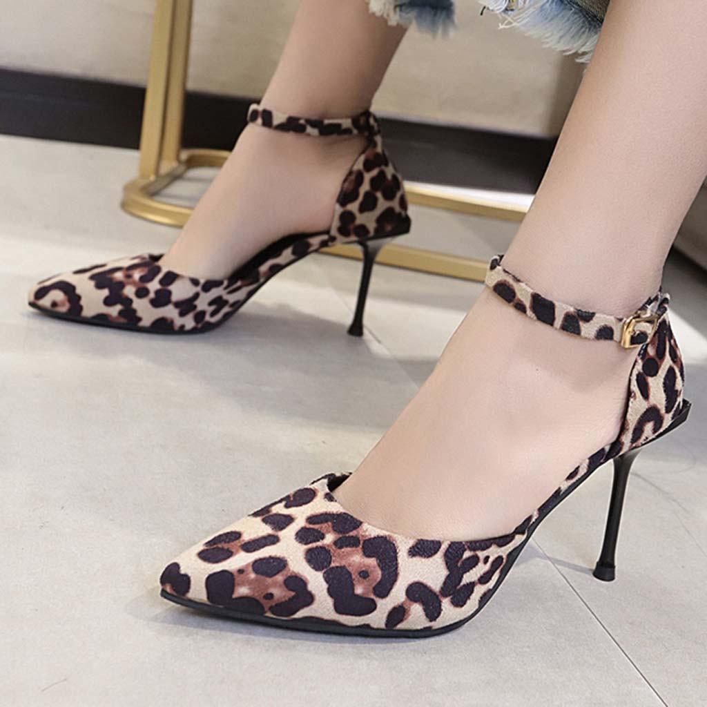 comfortable leopard heels