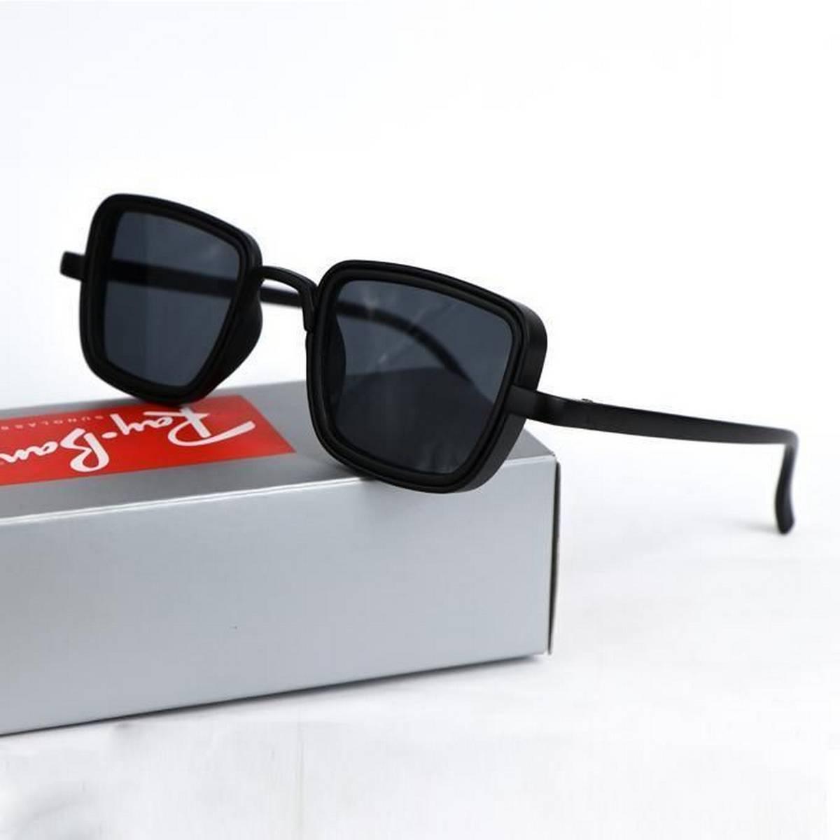 Kabir Singh India Movie Sunglasses For Men Square Retro Sun Shades Steampunk Style Black Metal Frame Sun Glasses for Men and women