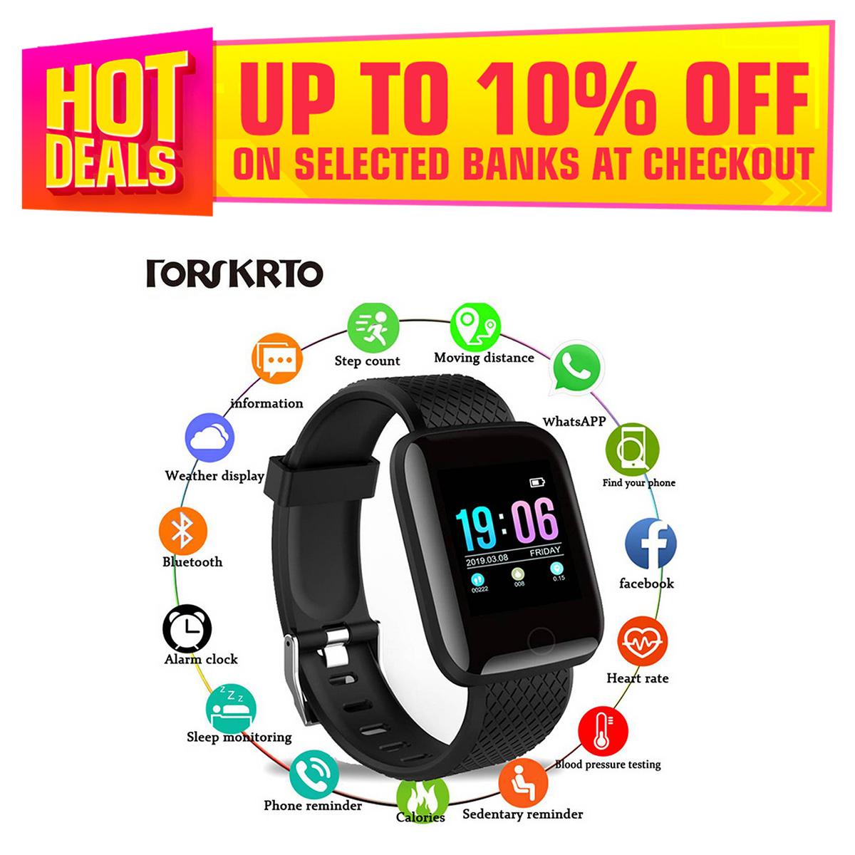 New Fitness D13 Smart Watch, Heart Rate Moniter Watch, Smart Fitness Watch