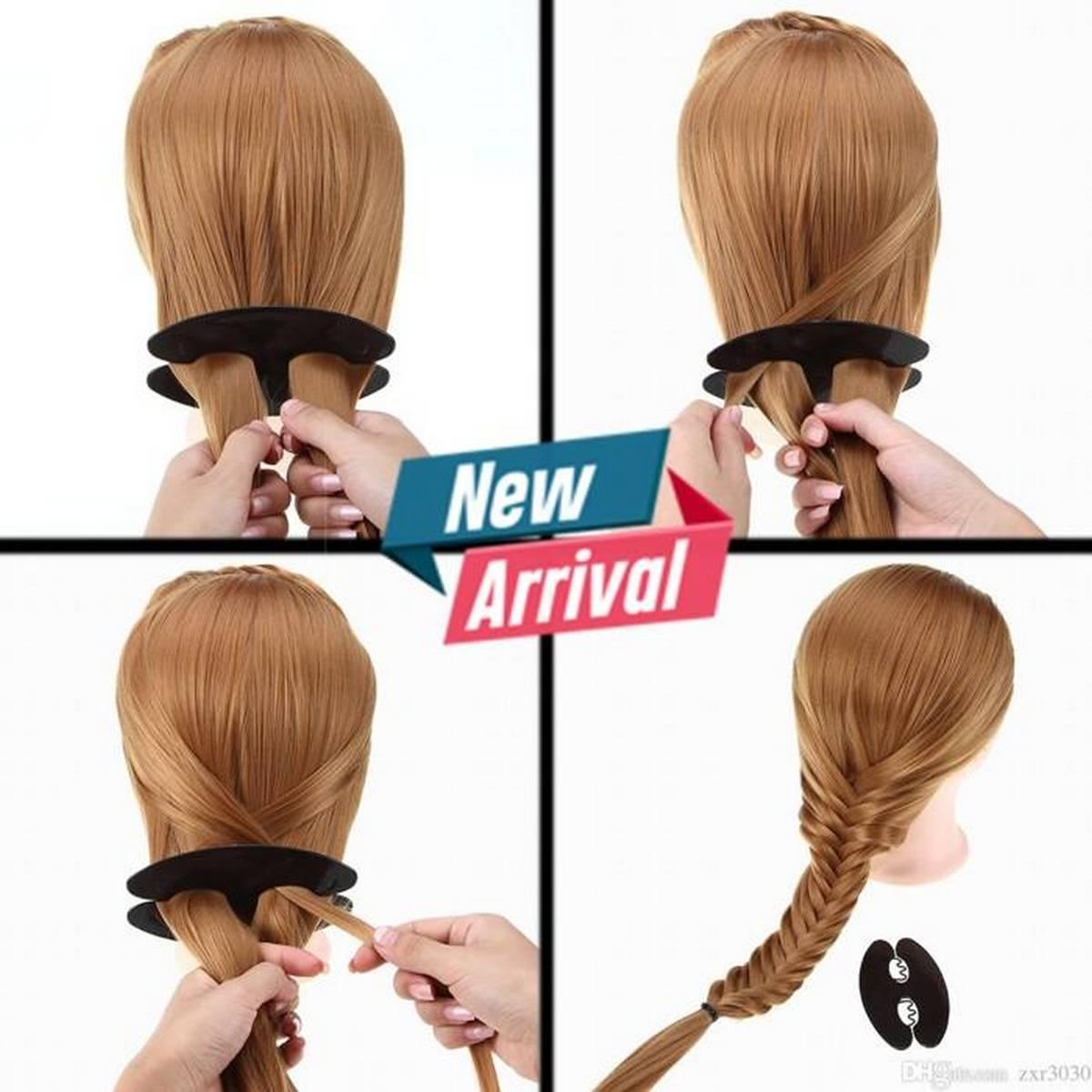 Hair Styling Set Magic French Lady Women Hair Braiding Tool Weave Braid Roller Hair Twist Styling Bun Maker DIY Hair Band Accessories