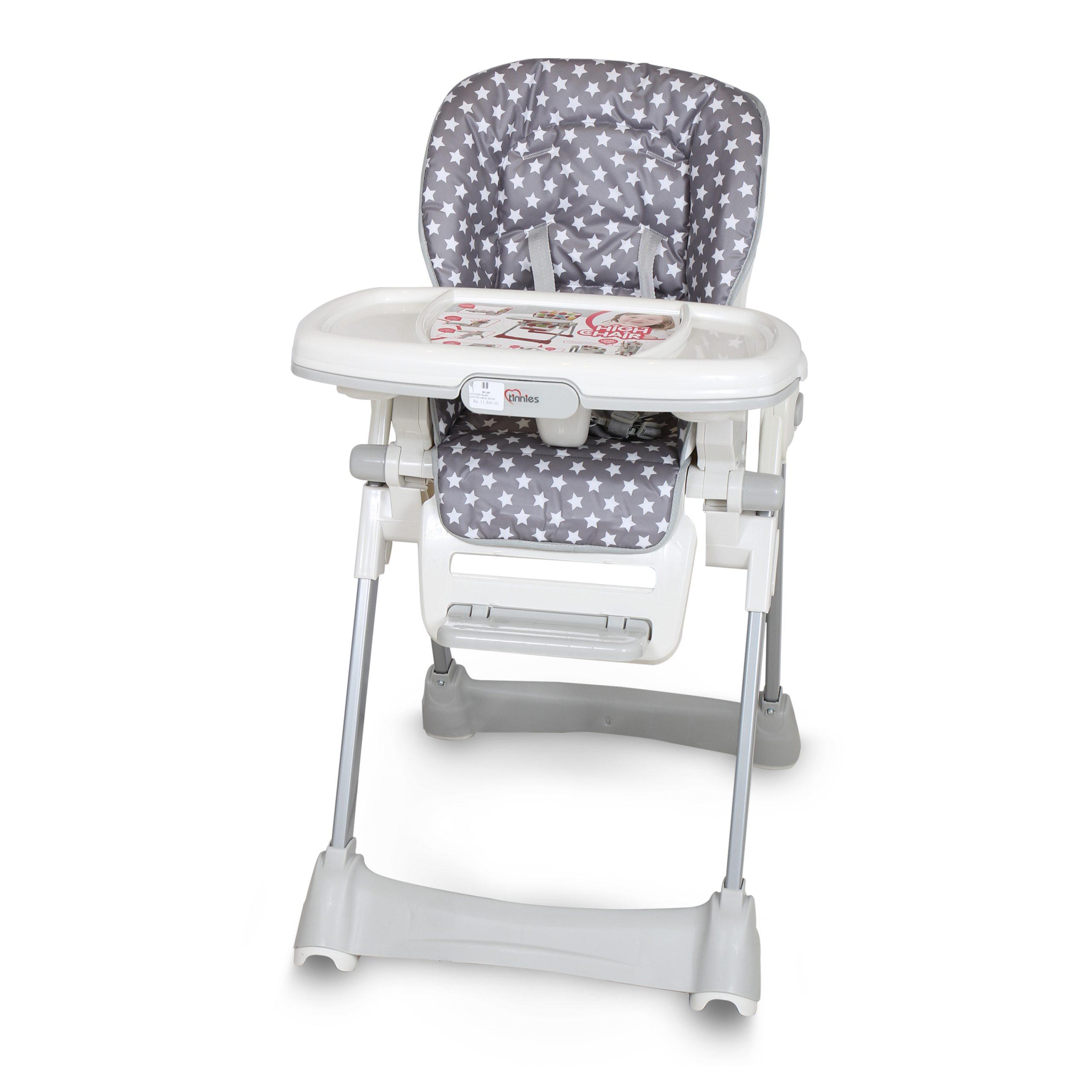Tinnies Baby Adjustable High Chair (Grey) - (BG-89)