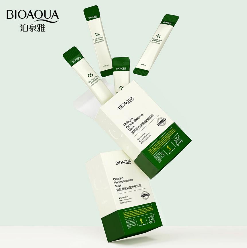 Bioaqua sleep mask, anti-aging moisturizer, Korean collagen, for oil control, skin care 4ml*20  Bqy90577
