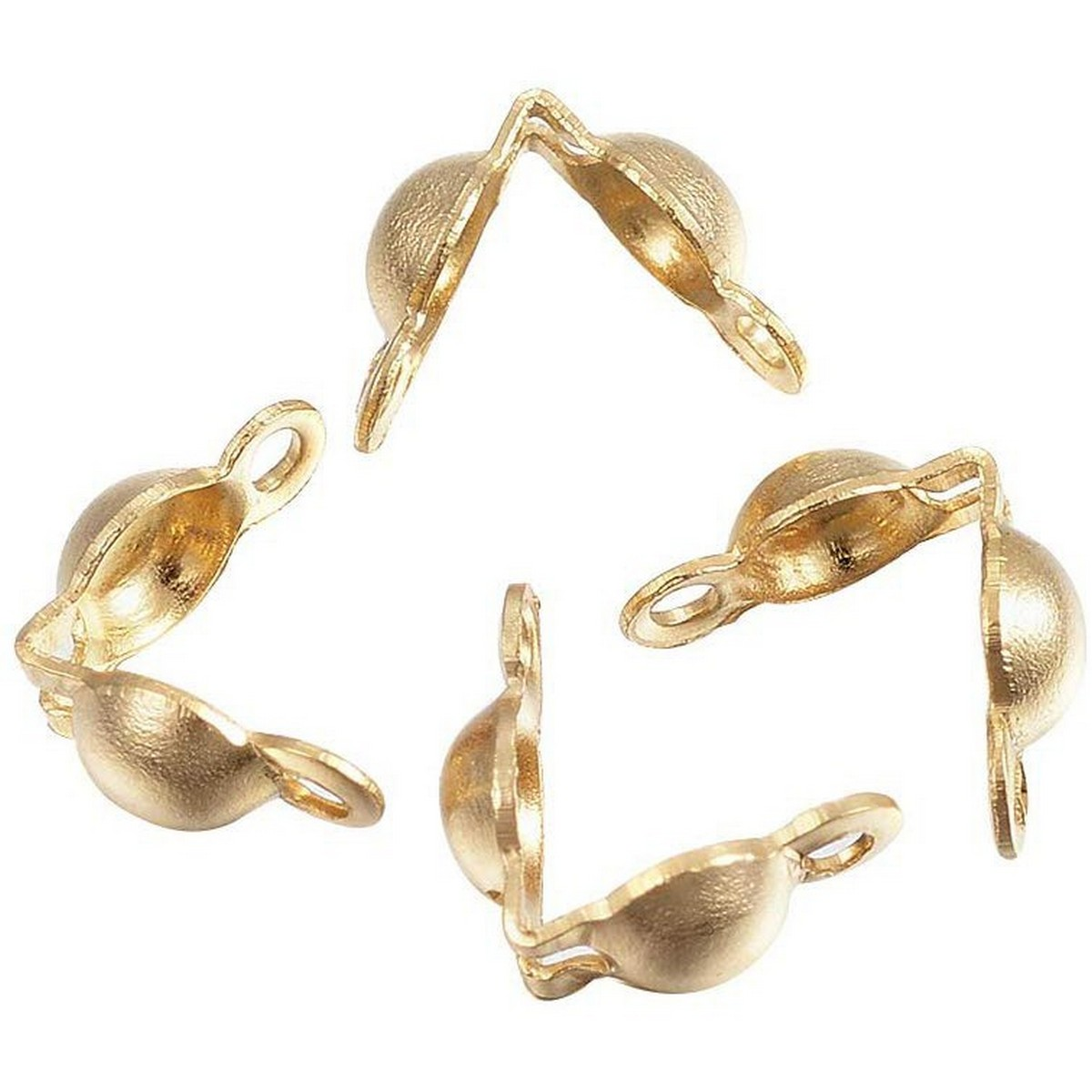 50-60Pcs\Lot Gold Silver Connector Calps Clasps Fitting Dori Lock, Chain Lock Connector Clasp Fitting 4*7mm Ball Chain Calotte End Crimps Beads Connector Components For DIY Findings Making Supplies