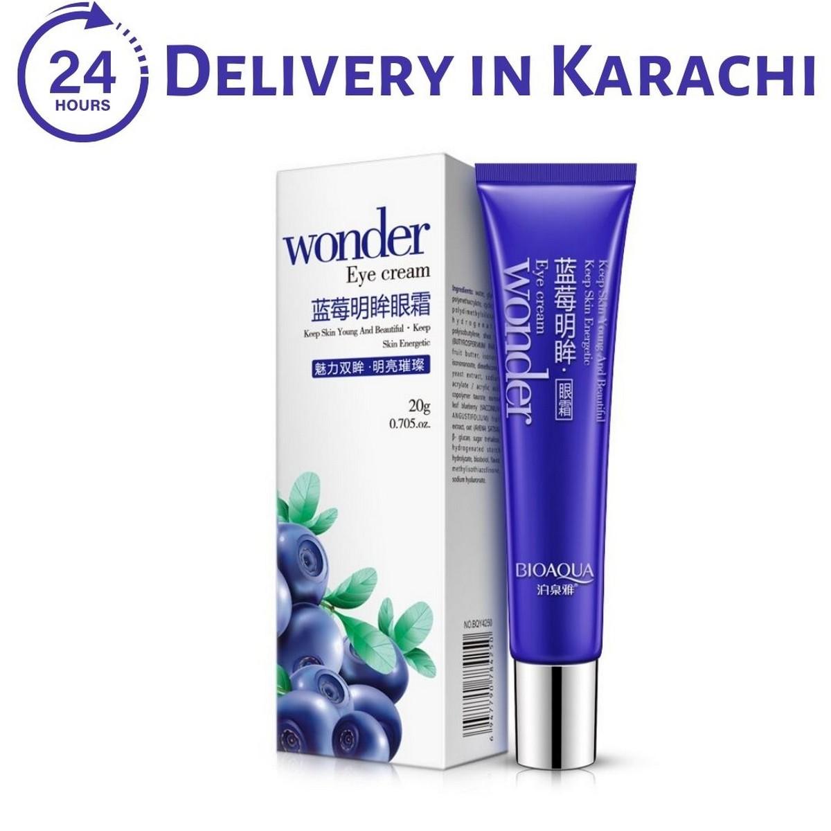 BIOAQUA Wonder Blueberry Eye Cream - Dark Circle Wrinkles Remover Moisturizing Anti Puffiness Eye Care Cream