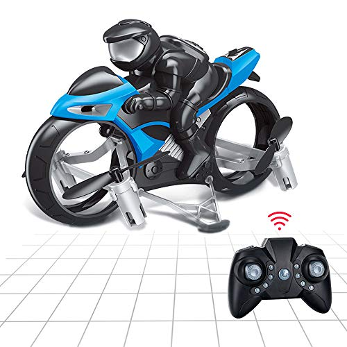 Remote Control Flying Motorcycle RC Drone, 2.4GHz 2in1 Land & Air Headless Mini Quadcopter Drone Motorbike